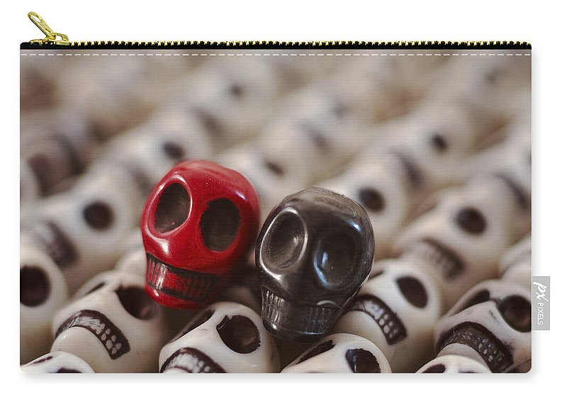 Smiles Carry-all Pouch featuring the photograph Red And Black by Mike Herdering