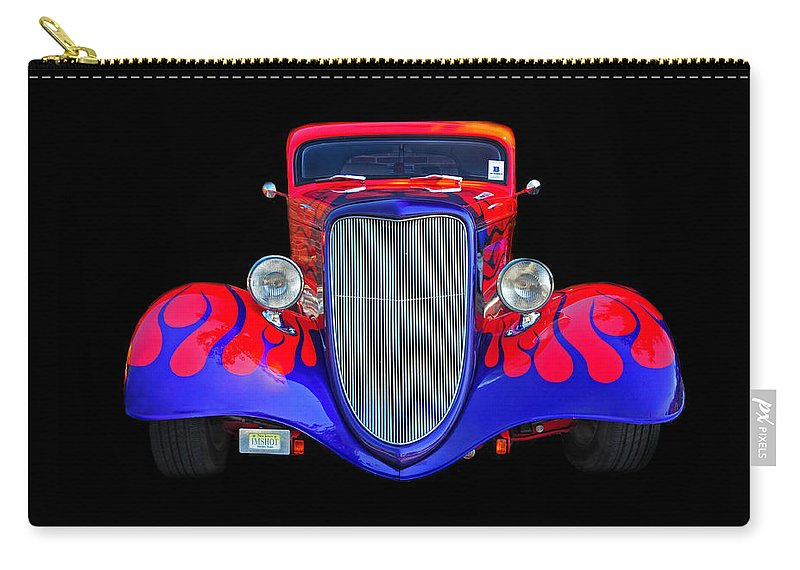 Car Carry-all Pouch featuring the photograph Red And Blue Custom by Dave Mills