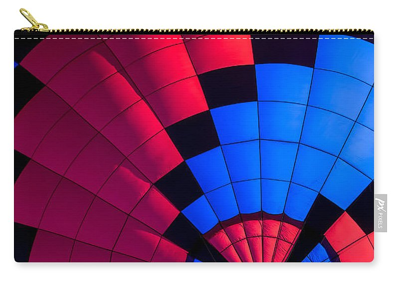 Hot Air Balloon Carry-all Pouch featuring the photograph Red And Blue Pattern by Garry Gay