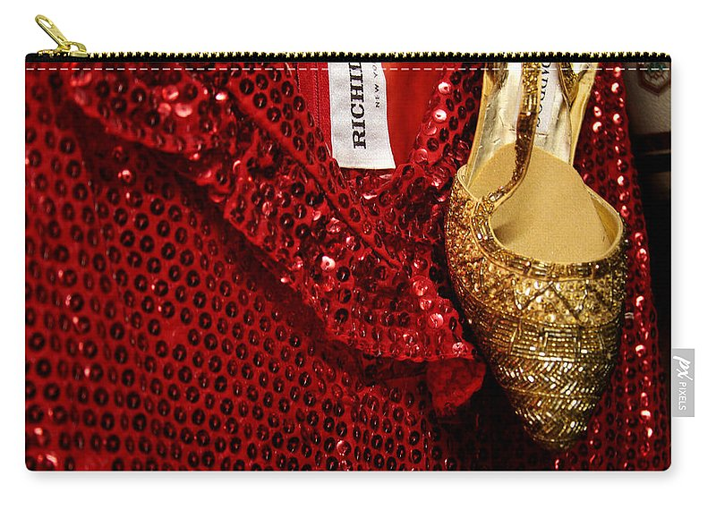 Fashion Carry-all Pouch featuring the photograph Red And Gold Holiday by Toni Hopper