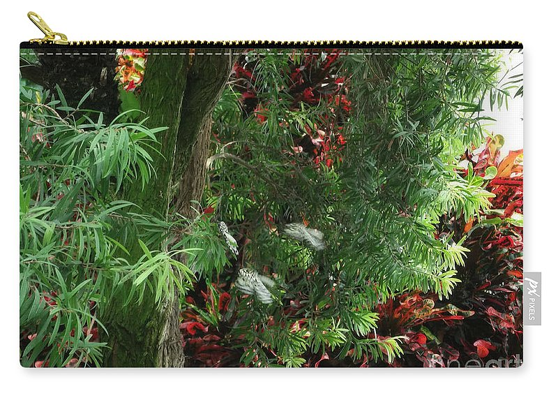 Red And Green Foliage Carry-all Pouch featuring the photograph Red And Green Foliage by Luther Fine Art