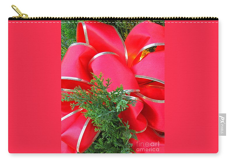 Christmas Carry-all Pouch featuring the photograph Red And Greens by Ann Horn