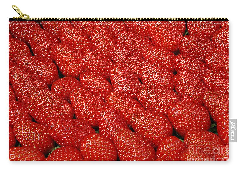 Strawberries Carry-all Pouch featuring the photograph Red And Ripe by Allen Beatty