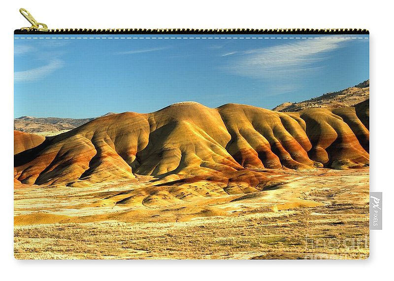 Painted Hills Carry-all Pouch featuring the photograph Red And Yellow Painted Hills by Adam Jewell