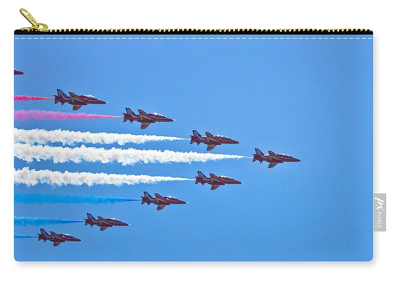 Raf Carry-all Pouch featuring the photograph Red Arrows 1 by Scott Carruthers