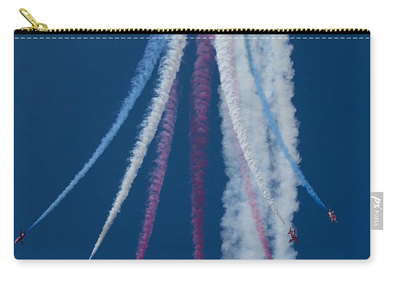 Riat Airshow Carry-all Pouch featuring the photograph Red Arrows Break by Gareth Burge Photography