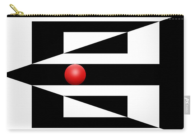 Abstract Carry-all Pouch featuring the digital art Red Ball 3 by Mike McGlothlen