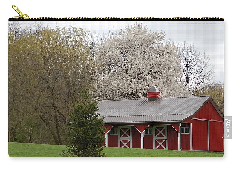 Red Barn Carry-all Pouch featuring the photograph Red Barn by Aimee L Maher ALM GALLERY