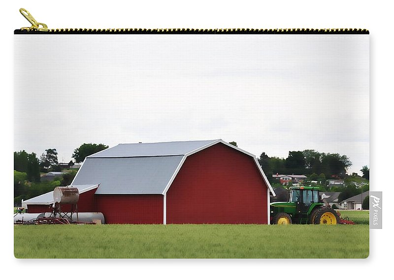 Barn Carry-all Pouch featuring the photograph Red Barn by Image Takers Photography LLC