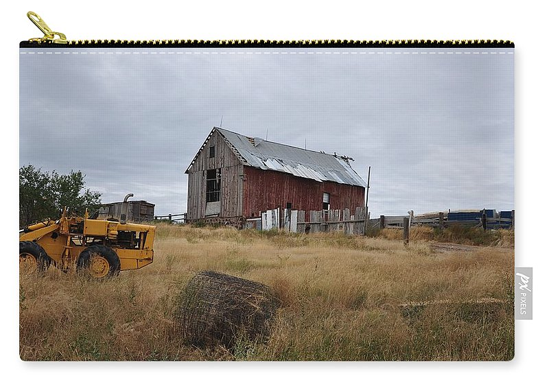 Barn Carry-all Pouch featuring the photograph Red Barn On The Hill by Image Takers Photography LLC