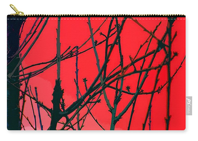 Red Carry-all Pouch featuring the digital art Red by Carol Lynch