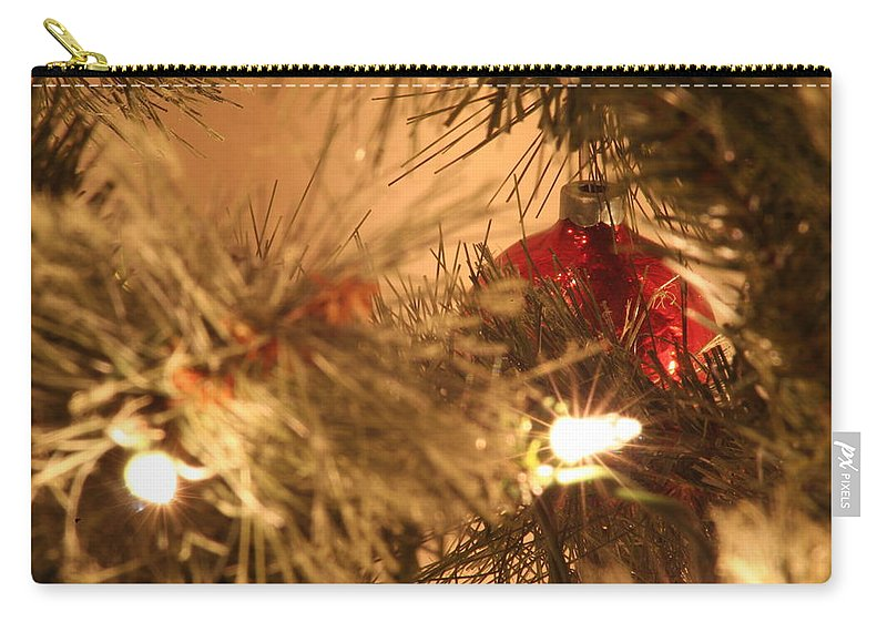 Red Carry-all Pouch featuring the photograph Red by David S Reynolds
