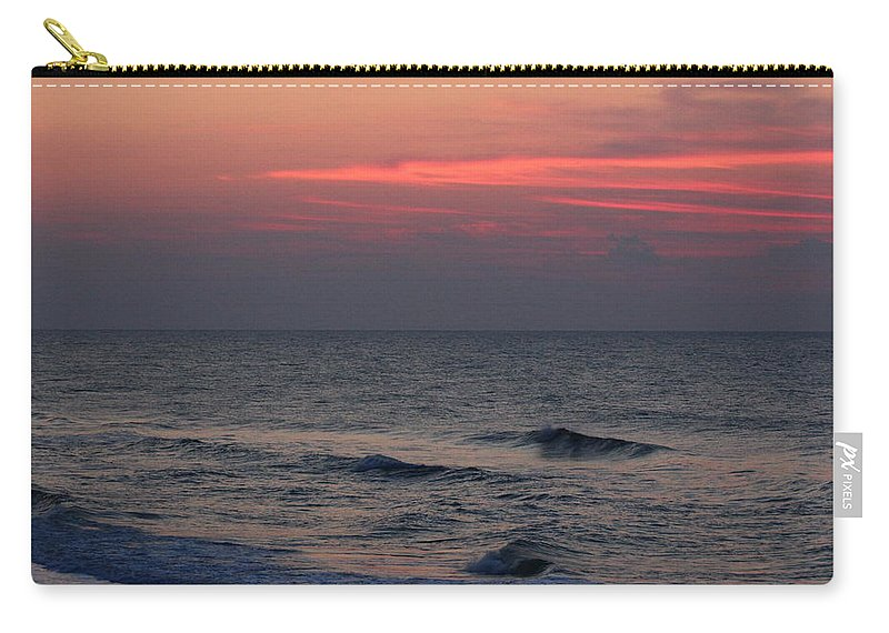 Topsail Island Carry-all Pouch featuring the photograph Red Dawn by Rand Wall