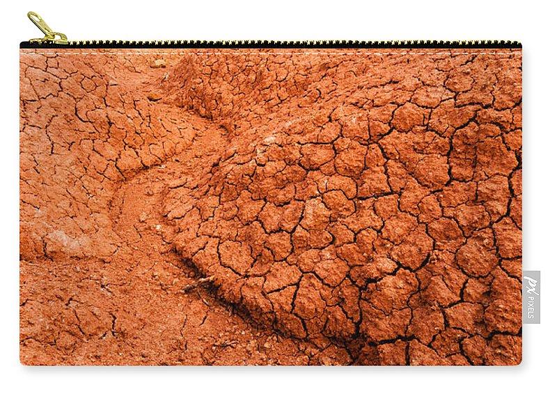 Desert Carry-all Pouch featuring the photograph Red Desert Column by Jess Kraft