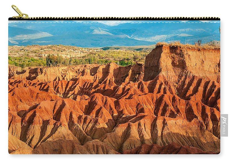 Desert Carry-all Pouch featuring the photograph Red Desert Hills by Jess Kraft