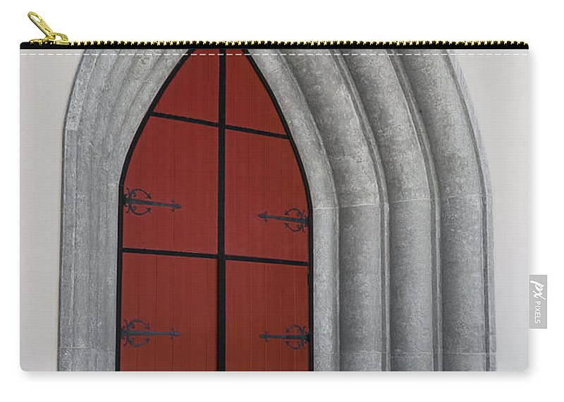 Church Carry-all Pouch featuring the photograph Red Door At Our Lady Of The Atonement by Ed Gleichman
