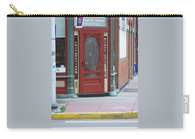 Lyle Carry-all Pouch featuring the painting Red Door by Lord Frederick Lyle Morris - Disabled Veteran