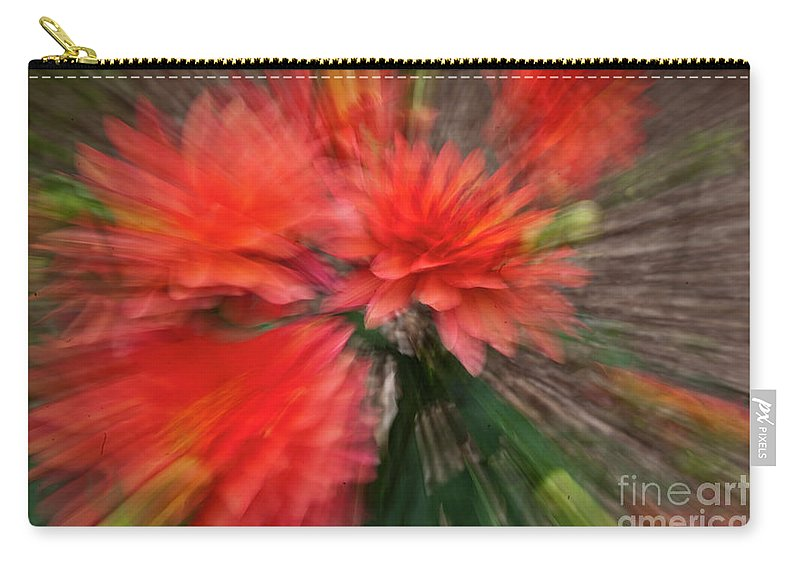 Heiko Carry-all Pouch featuring the photograph Red Explosion by Heiko Koehrer-Wagner