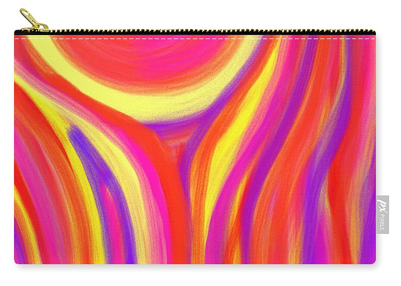 Daina Carry-all Pouch featuring the painting Red Fire by Daina White