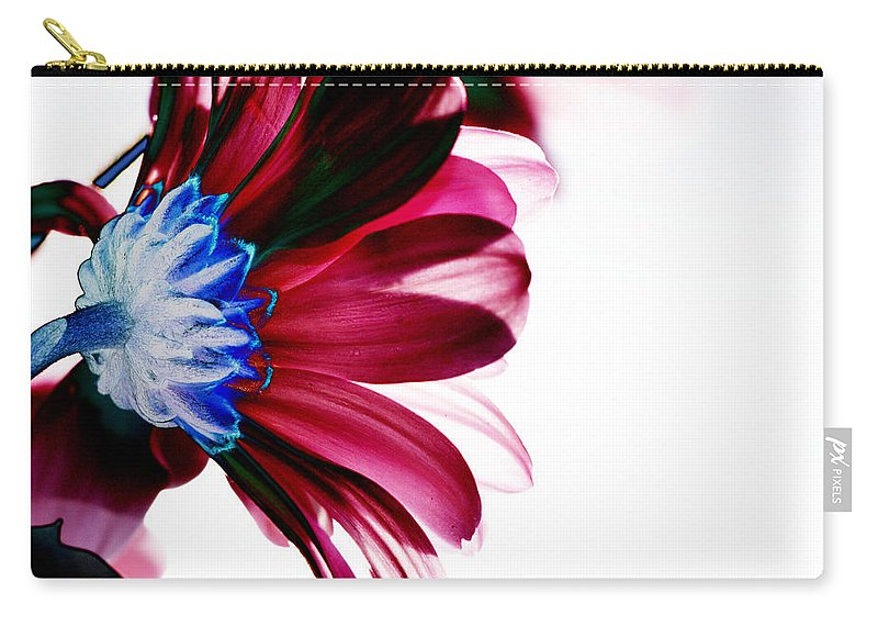 Red Carry-all Pouch featuring the digital art Red Flower by Carol Lynch