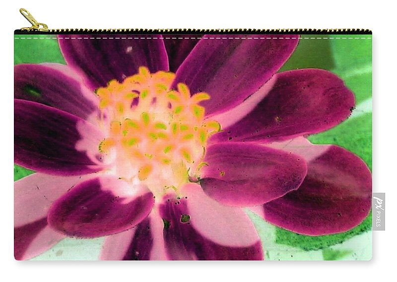 Flower Carry-all Pouch featuring the photograph Red Flower - Photopower 256 by Pamela Critchlow