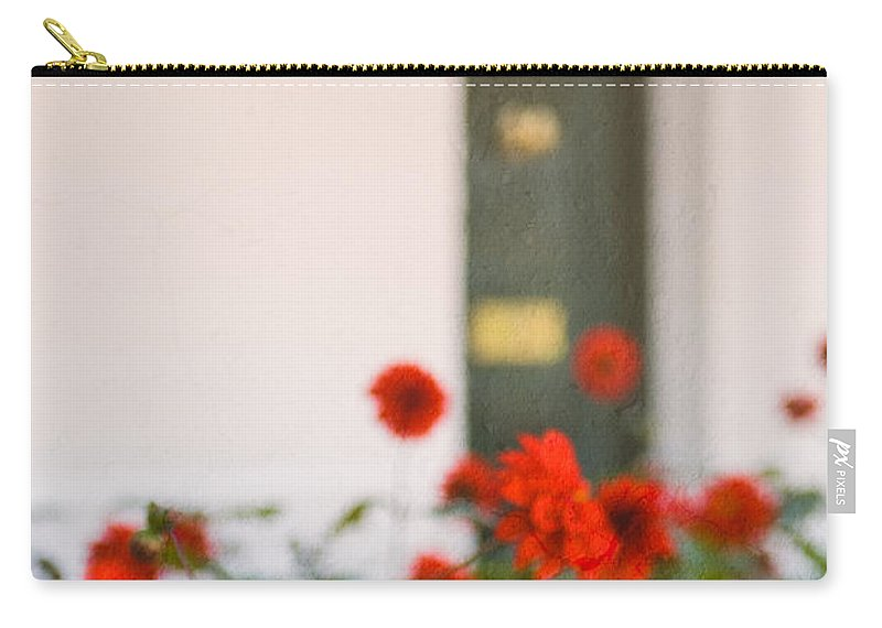 Bud Carry-all Pouch featuring the photograph Red Flowers by Mark Llewellyn
