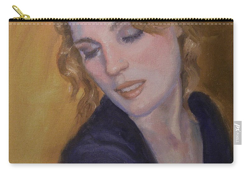 Figurative Carry-all Pouch featuring the painting Red Hair by Sarah Parks