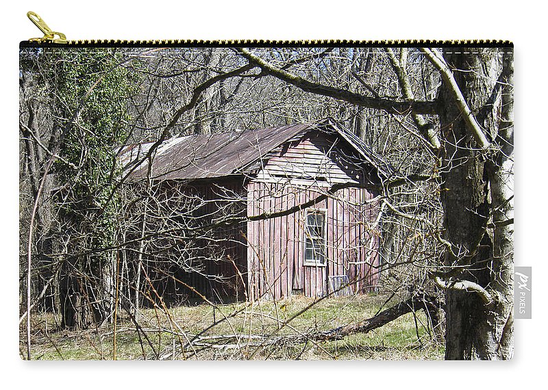Red Carry-all Pouch featuring the photograph Red House by Nick Kirby
