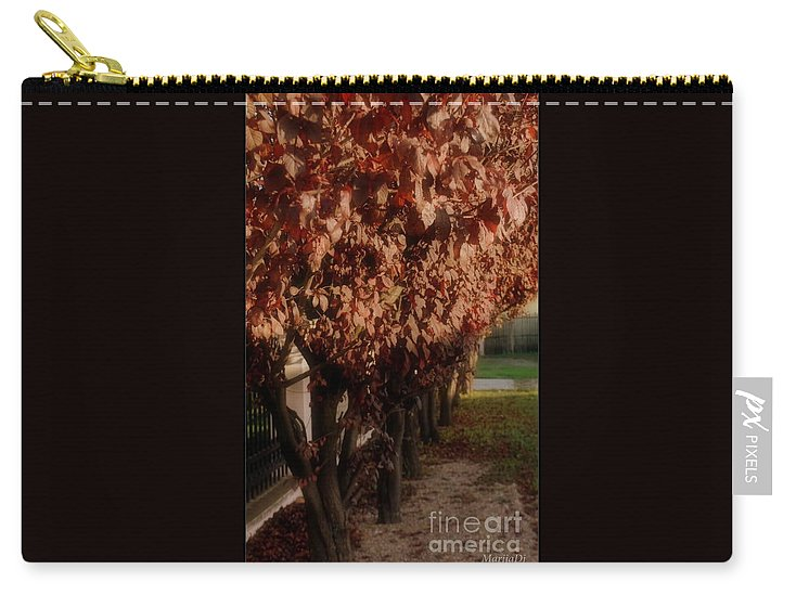 Nature Carry-all Pouch featuring the photograph Red In Row by Marija Djedovic