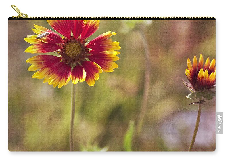 Flowers Carry-all Pouch featuring the photograph Red On Yellow by Pam Holdsworth
