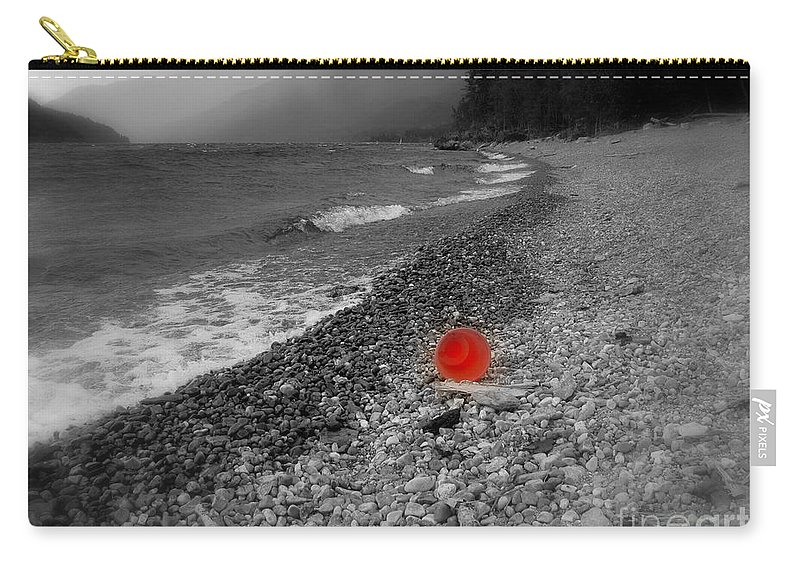 Red Carry-all Pouch featuring the photograph Red Pail by Leone Lund