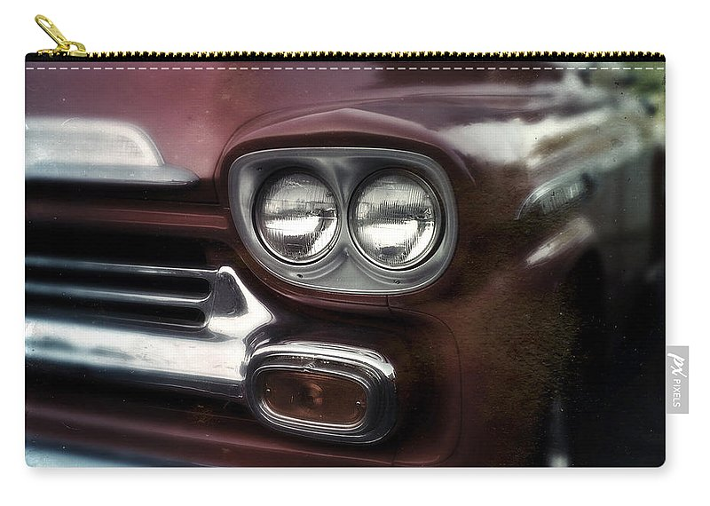 Classic Carry-all Pouch featuring the photograph Red Pickup by Tim Nyberg
