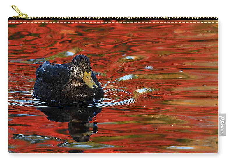 Autumn Carry-all Pouch featuring the photograph Red Pond by Karol Livote