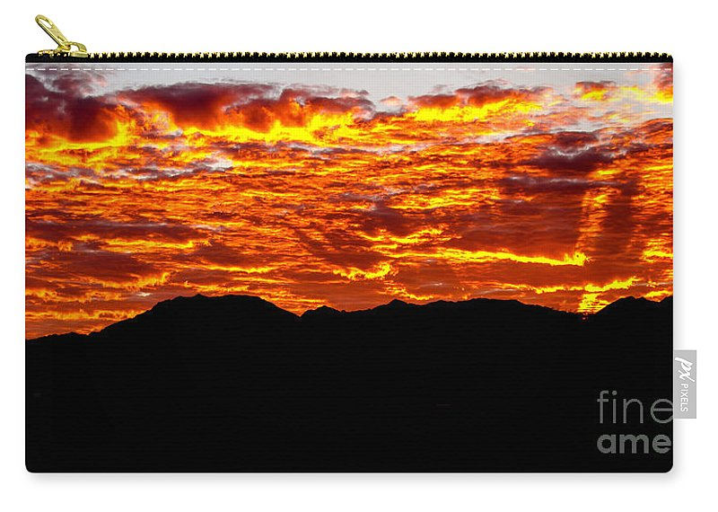 Sunrise Carry-all Pouch featuring the photograph Red Rays by Robert Bales