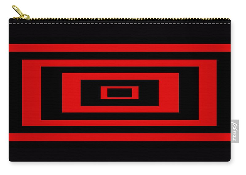 Pop Art Carry-all Pouch featuring the digital art Red Rectangle by Mike McGlothlen