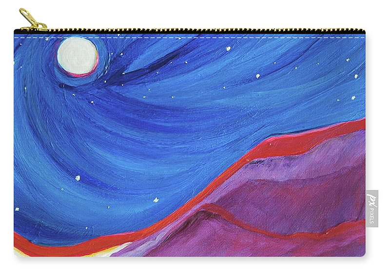 Landscape Carry-all Pouch featuring the painting Red Ridge By Jrr by First Star Art