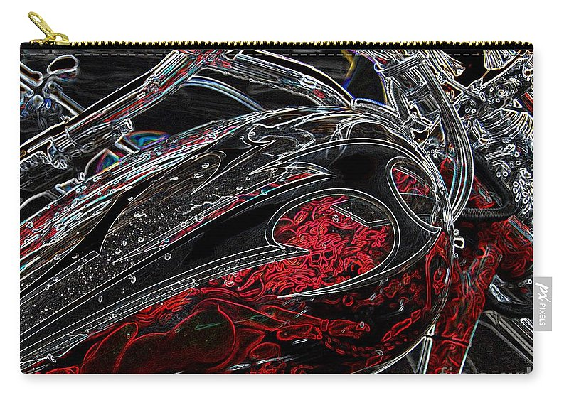 Motorcycle Carry-all Pouch featuring the photograph Red Riding Hood 3 by Anthony Wilkening