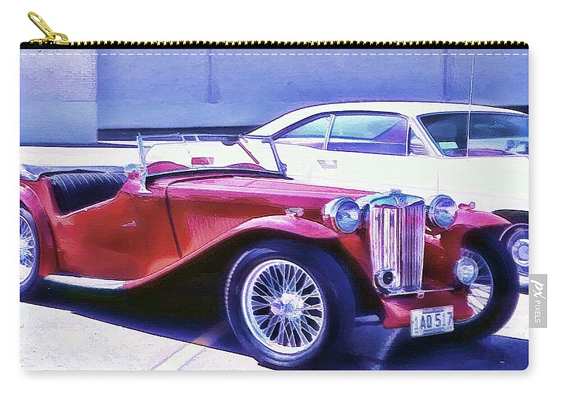 Red Roadster Carry-all Pouch featuring the photograph Red Roadster by Cathy Anderson
