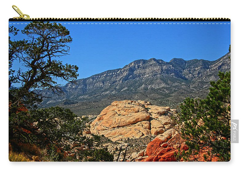 Red Rock Canyon Carry-all Pouch featuring the photograph Red Rock Canyon 4 by Chris Brannen