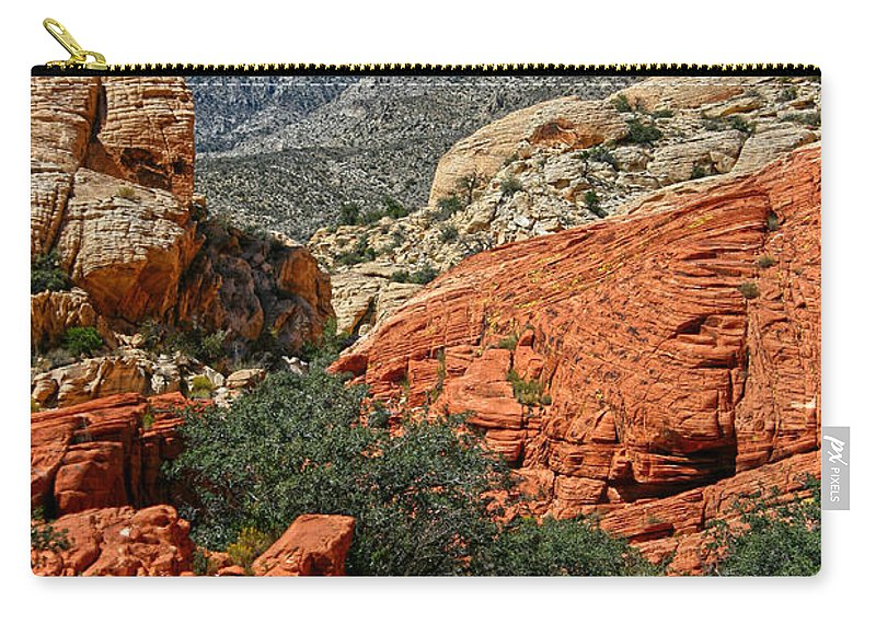 Red Rock Canyon Carry-all Pouch featuring the photograph Red Rock Canyon 6 by Chris Brannen