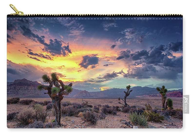 Scenics Carry-all Pouch featuring the photograph Red Rock Canyon by Eddie Lluisma