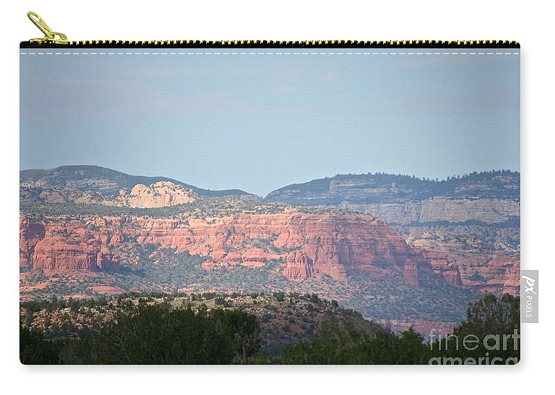 Outdoors Carry-all Pouch featuring the photograph Red Rock Evening by Susan Herber