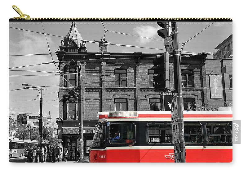 Toronto Carry-all Pouch featuring the photograph Red Rocket 15c by Andrew Fare