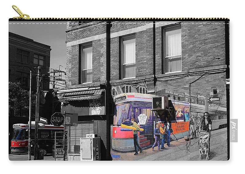 Streetcar Carry-all Pouch featuring the photograph Red Rocket 22c by Andrew Fare