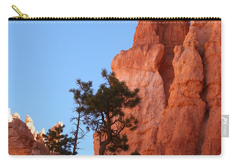 Canyon Carry-all Pouch featuring the photograph Red Rocks Of Bryce Canyon by Christiane Schulze Art And Photography