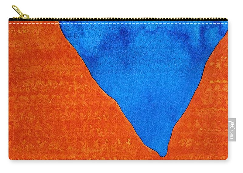 Red Rocks Carry-all Pouch featuring the painting Red Rocks Original Painting by Sol Luckman