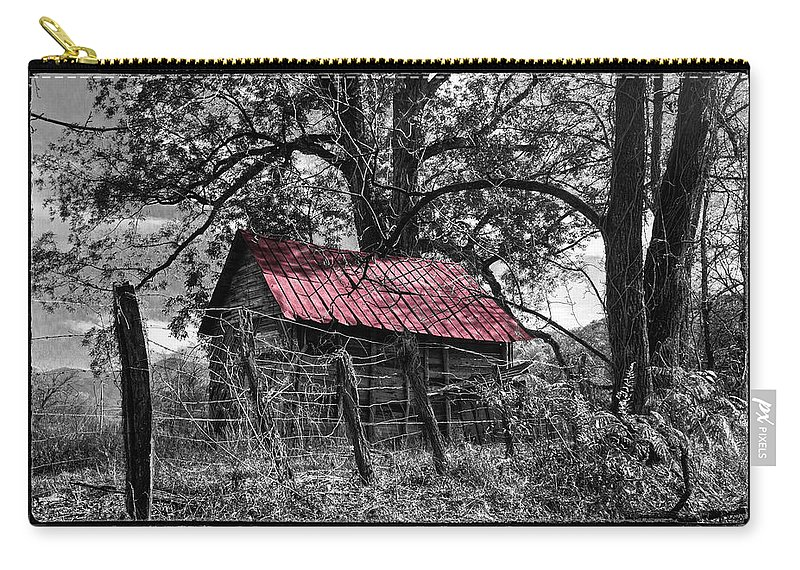 Andrews Carry-all Pouch featuring the photograph Red Roof by Debra and Dave Vanderlaan