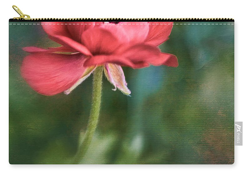 Bloom Carry-all Pouch featuring the photograph Ranunculus by David and Carol Kelly