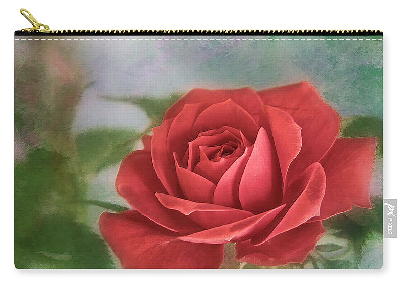 Bloom Carry-all Pouch featuring the photograph Red Rose II by David and Carol Kelly
