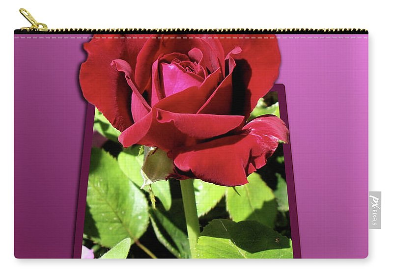 Red Rose Carry-all Pouch featuring the photograph Red Rose by Thomas Woolworth